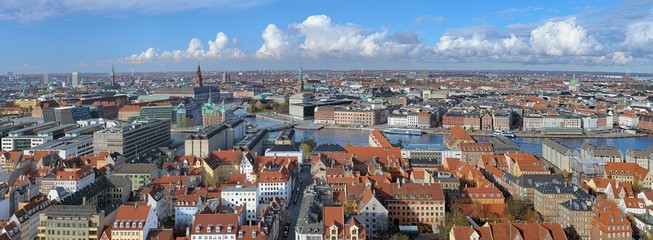 Panorama of Copenhagen, Denmark