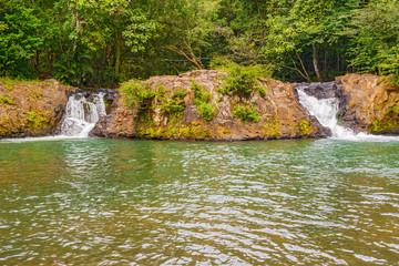 Small falls in rain forest in Panama