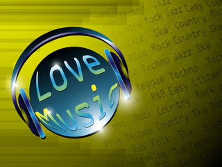 Music Lover Background EPS 10 Vector