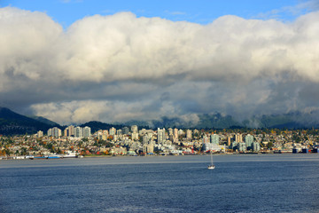 North Vancouver city skyline across Vancouver Harbour