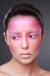 Creative face paint portrait