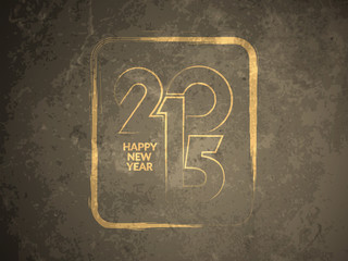 Grunge texture background of happy new year 2015.