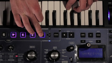 DJ using his midi controller