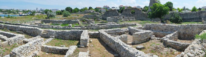 Ruins of Hersones, ancient greece settlement on Crimea