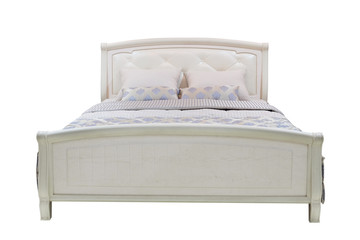double bed isolated