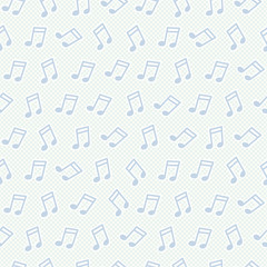 Seamless pattern with notes
