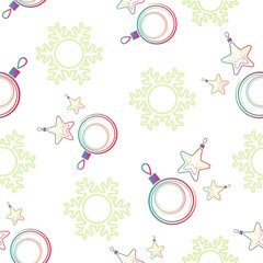 holiday seamless background, Christmas decorations