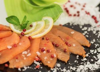 Pepe rosa con salmone affumicato