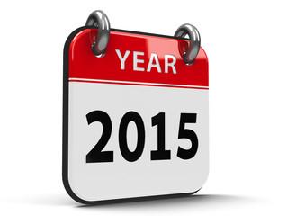 Icon calendar 2015 year isometry
