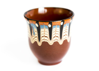 Traditional Bulgarian painted ceramic cup