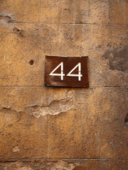 weathered number forty-four, 44