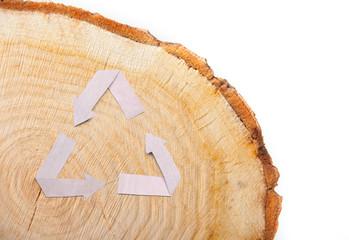 close-up wooden cut texture
