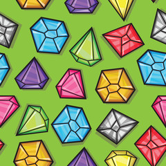 Vector seamless pattern of diamonds