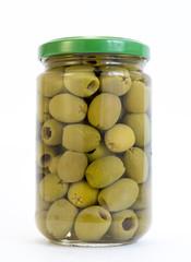 Green olives jar