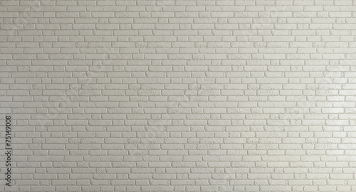 Poster Wand white brick wall for background