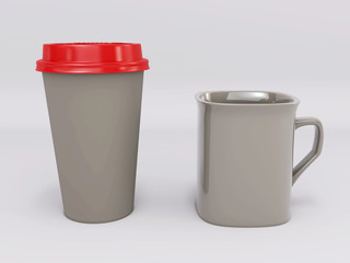 Template cup for coffee