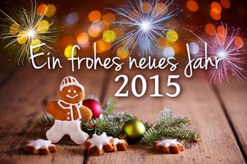 Grußkarte - Frohes neues Jahr 2015