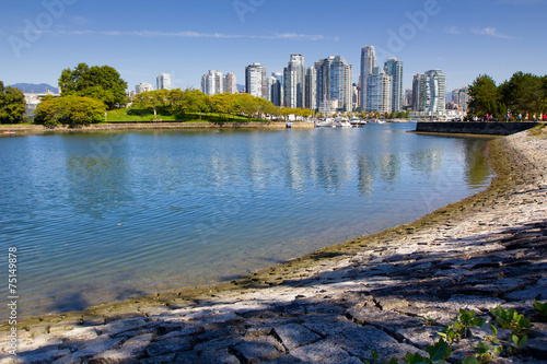 City on the water Vancouver skyline, water, urban park