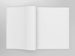 Empty open book mockup template
