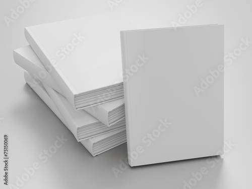 Empty book mockup template