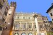 Italy, Verona, palazzo Maffei and Gardello tower