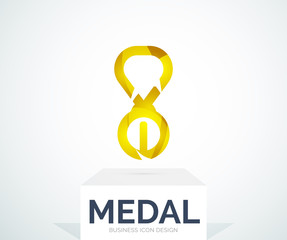 Abstract colorful logo design medal