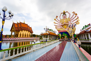 Excursion to the temple of Wat Plai Laem on the island Samui