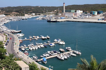 Boats, Port of Mahon, Minorca, Balearic islands, Spain