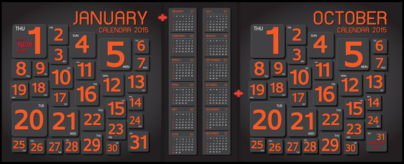 calendar 2015 Abstract and art background