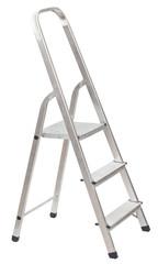 short folding ladder isolated on white