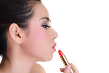 Makeup and beauty girl.