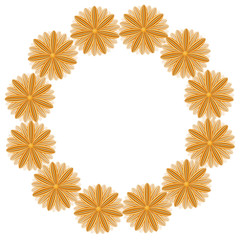 round pattern from brown flowers
