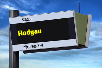Anzeigetafel 6 - Rodgau