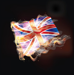 united kingdom flag burning