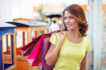 Attractive shopper