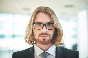 Businessman in eyeglasses