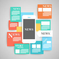 Newspaper vector set.