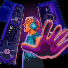 DJ in profile