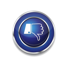Thumbs Down Blue Vector Icon Button