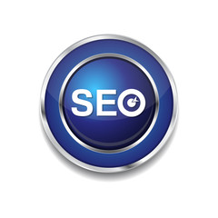 SEO Blue Vector Icon Button