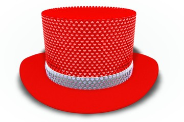 Red Rhinestones Top Hat