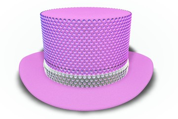 Pink Rhinestones Top Hat
