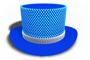 Blue Rhinestones Top Hat