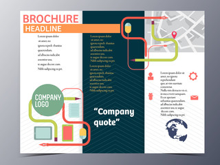 mouse and stationary vector brochure template design