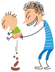 所構わず幼児に排便させる親