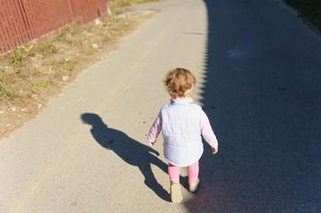 Girl and Shadow Line