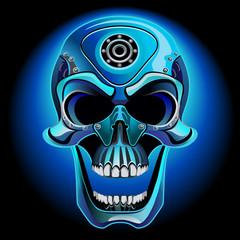 Metal skull biker