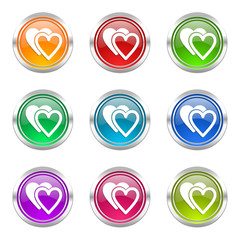 valentine colorful web icons vector set