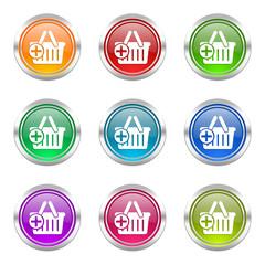 shop colorful web icons vector set