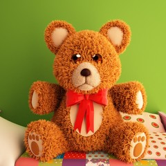 Teddy Bear 3d illustration